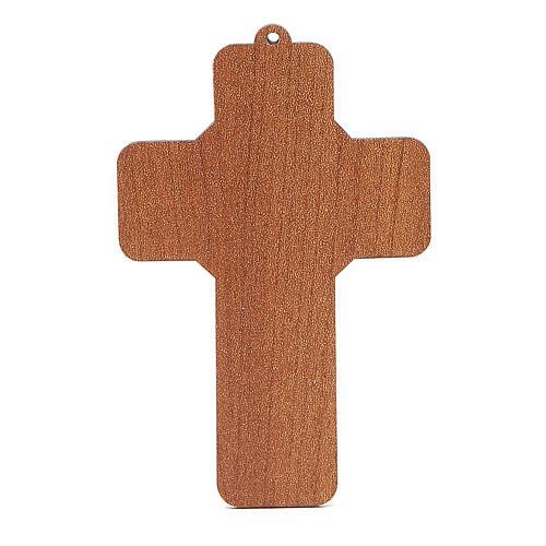 Croix pvc Sainte Famille 13x8,5 cm 2
