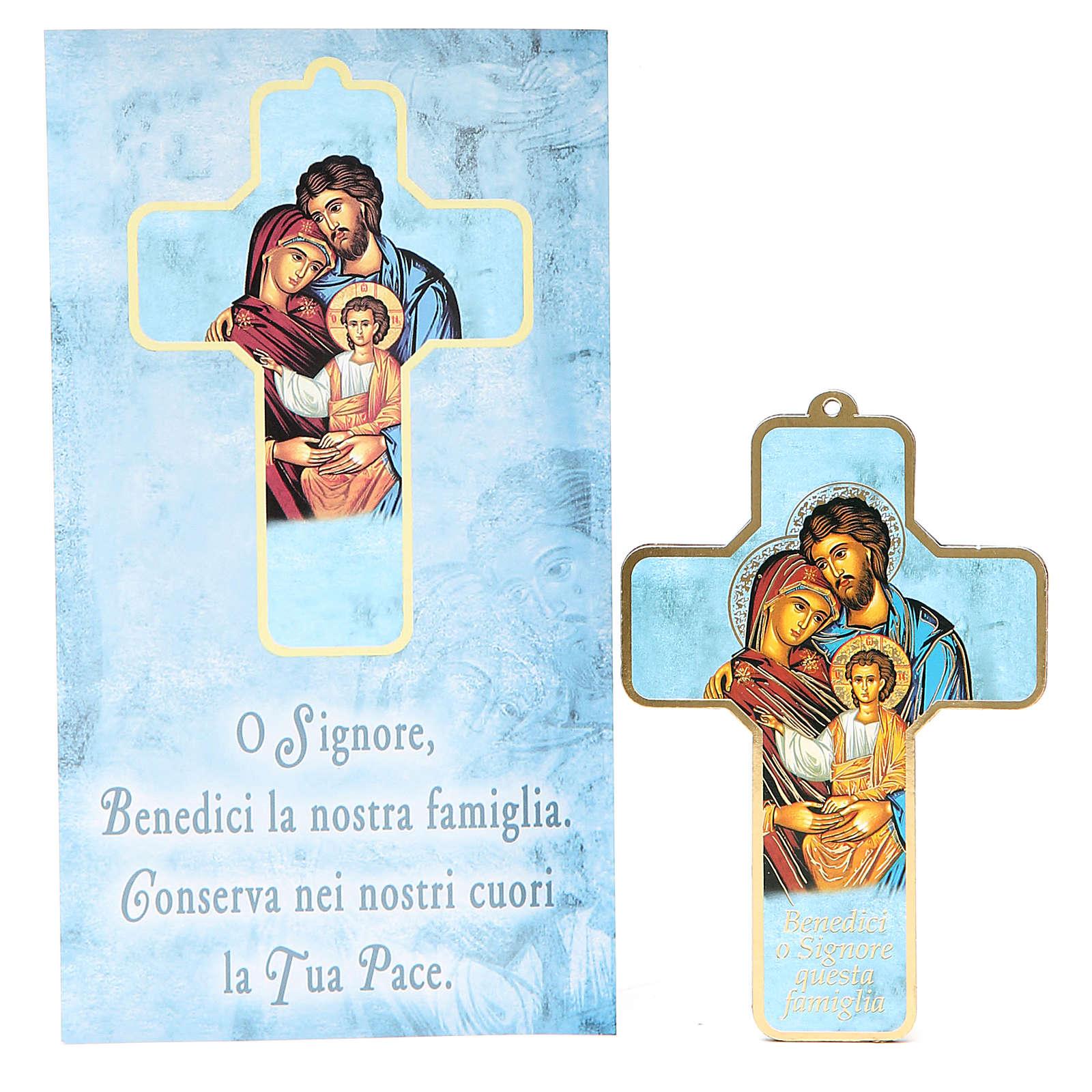 Croce pvc Sacra Famiglia 13x8,5 cm 3