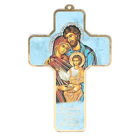 Benedizione delle Famiglie con croce pvc Sacra Famiglia s1