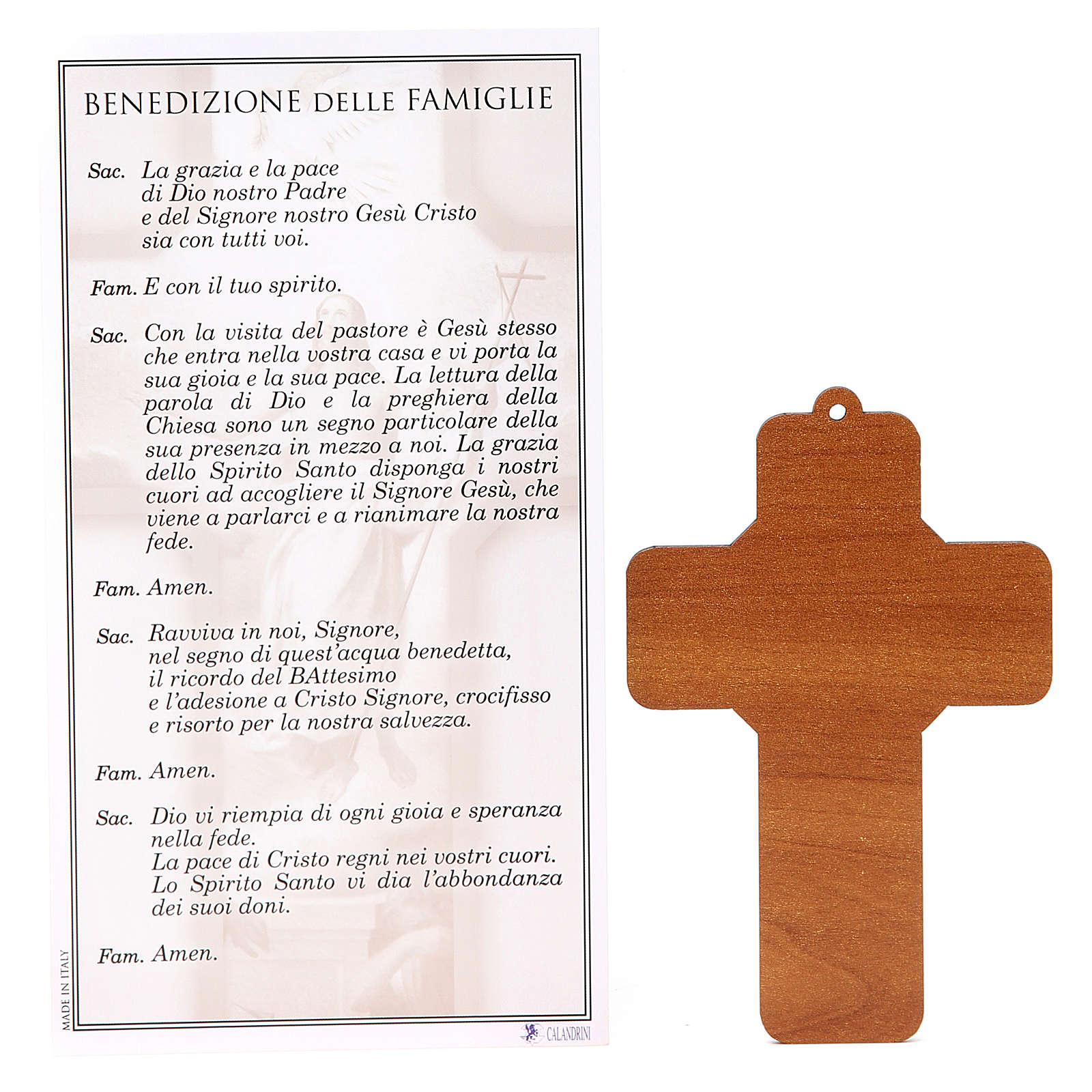 Cross PVC Resurrection with greeting card ITALIAN 3