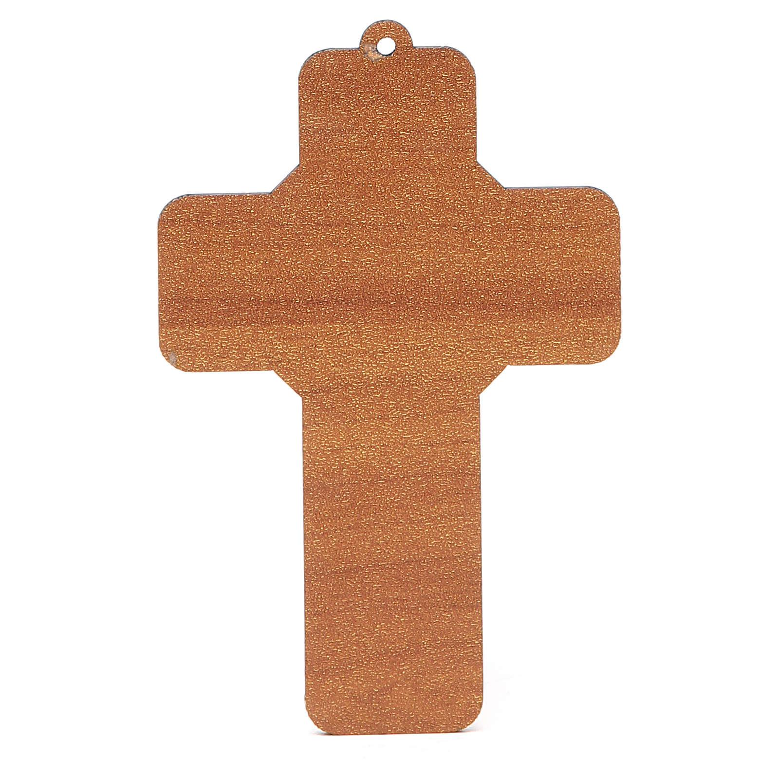 Cross PVC Jesus Resurrection 13x8,5cm 3