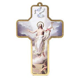 Cross PVC Jesus Resurrection 13x8,5cm s1