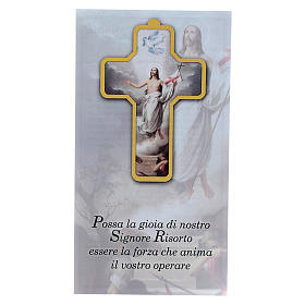 Cross PVC Jesus Resurrection 13x8,5cm s3