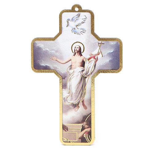 Cross PVC Jesus Resurrection 13x8,5cm 1
