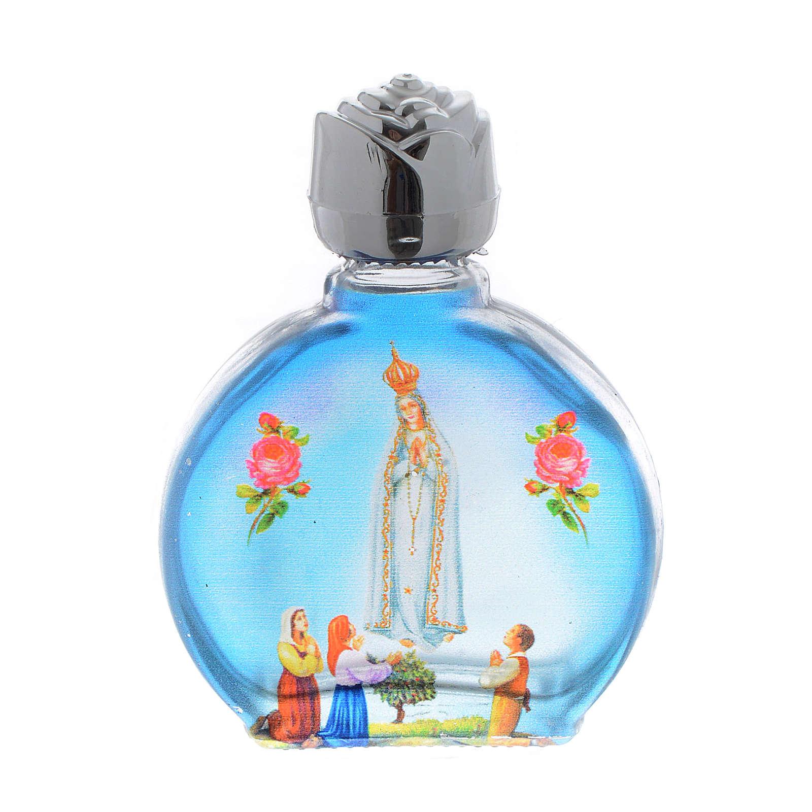 Botella para agua bendita Virgen de Fatima vidrio 3