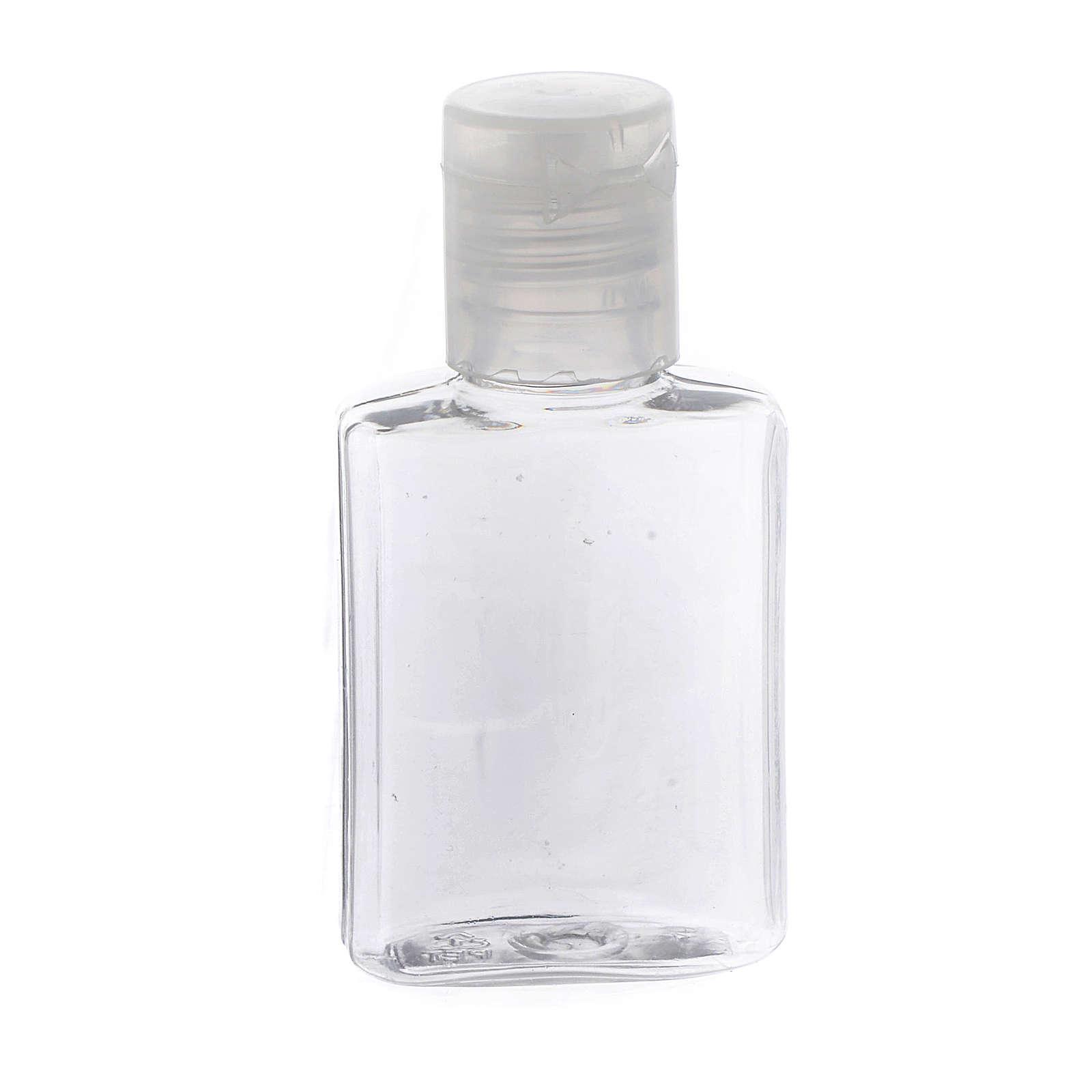 Botella para agua bendita plástico transparente 3