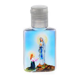 Botella para agua bendita Virgen de Lourdes plástico s1