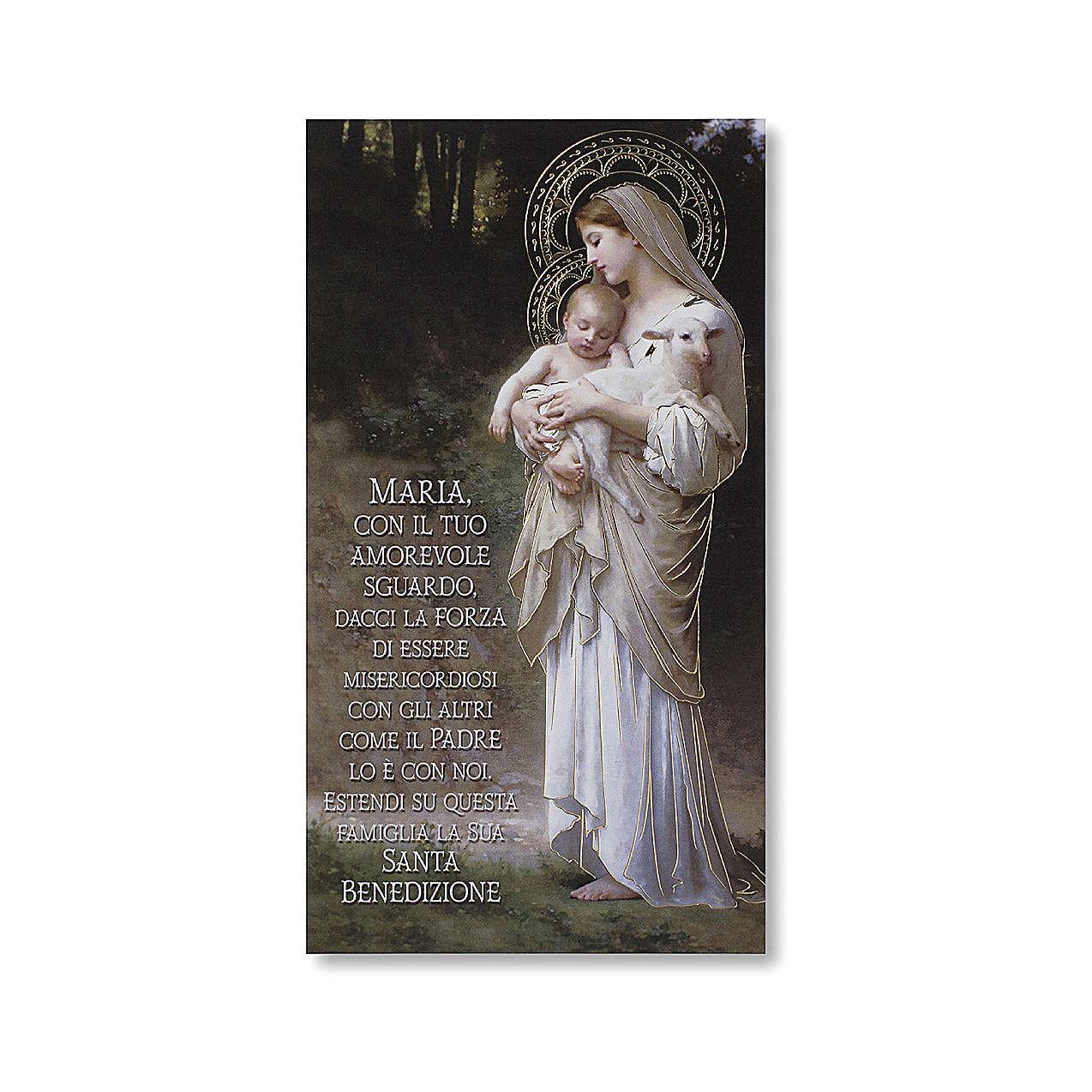 Estampa Bendición de las familias Divina Inocencia ITALIANO 3
