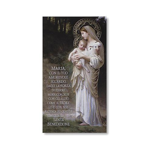 Estampa Bendición de las familias Divina Inocencia ITALIANO 1