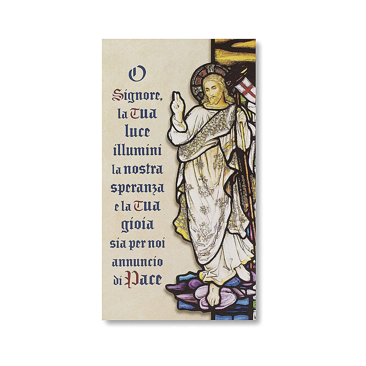 Estampa Bendición de las familias Resurrección de Jesucristo ITALIANO 3