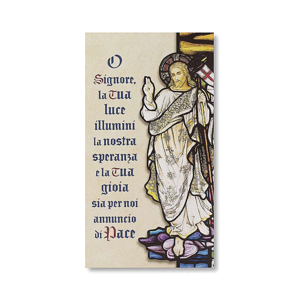 Benedizione delle Famiglie Cartoncino Resurrezione di Cristo ITA 3