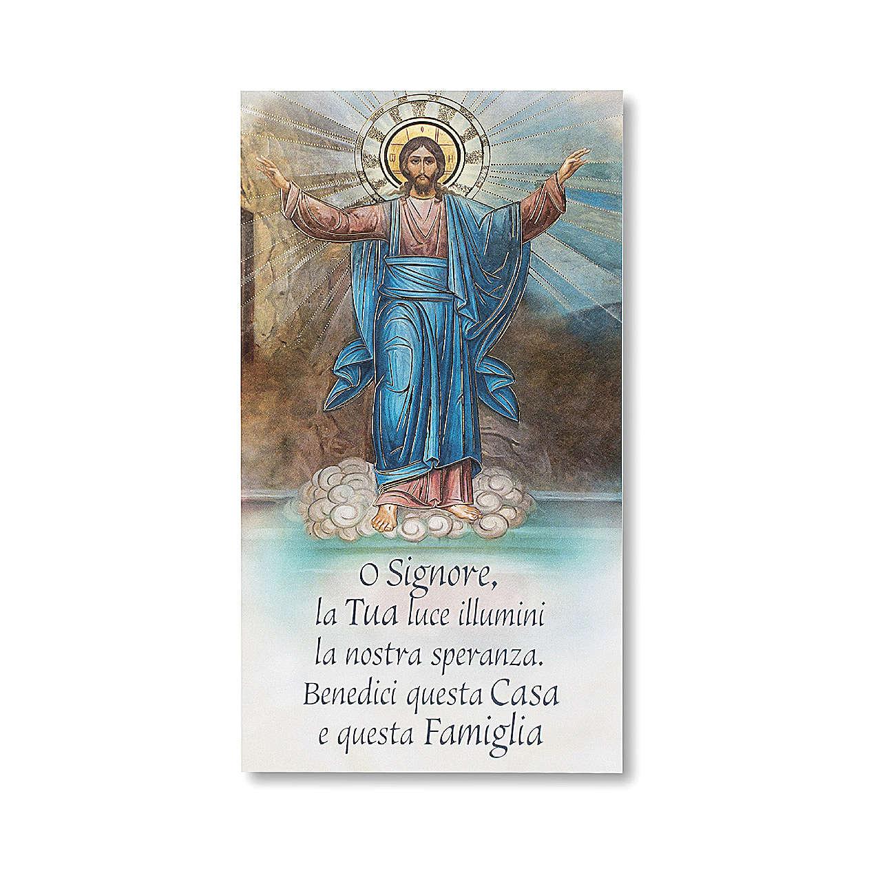 Family Blessing pasteboard Resurrected Jesus ITALIAN 3