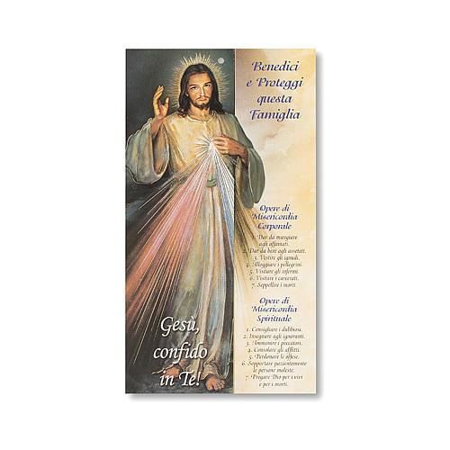 Błogosławieństwo wielkanocne Kartonik Jezus Miłosierny IT 1