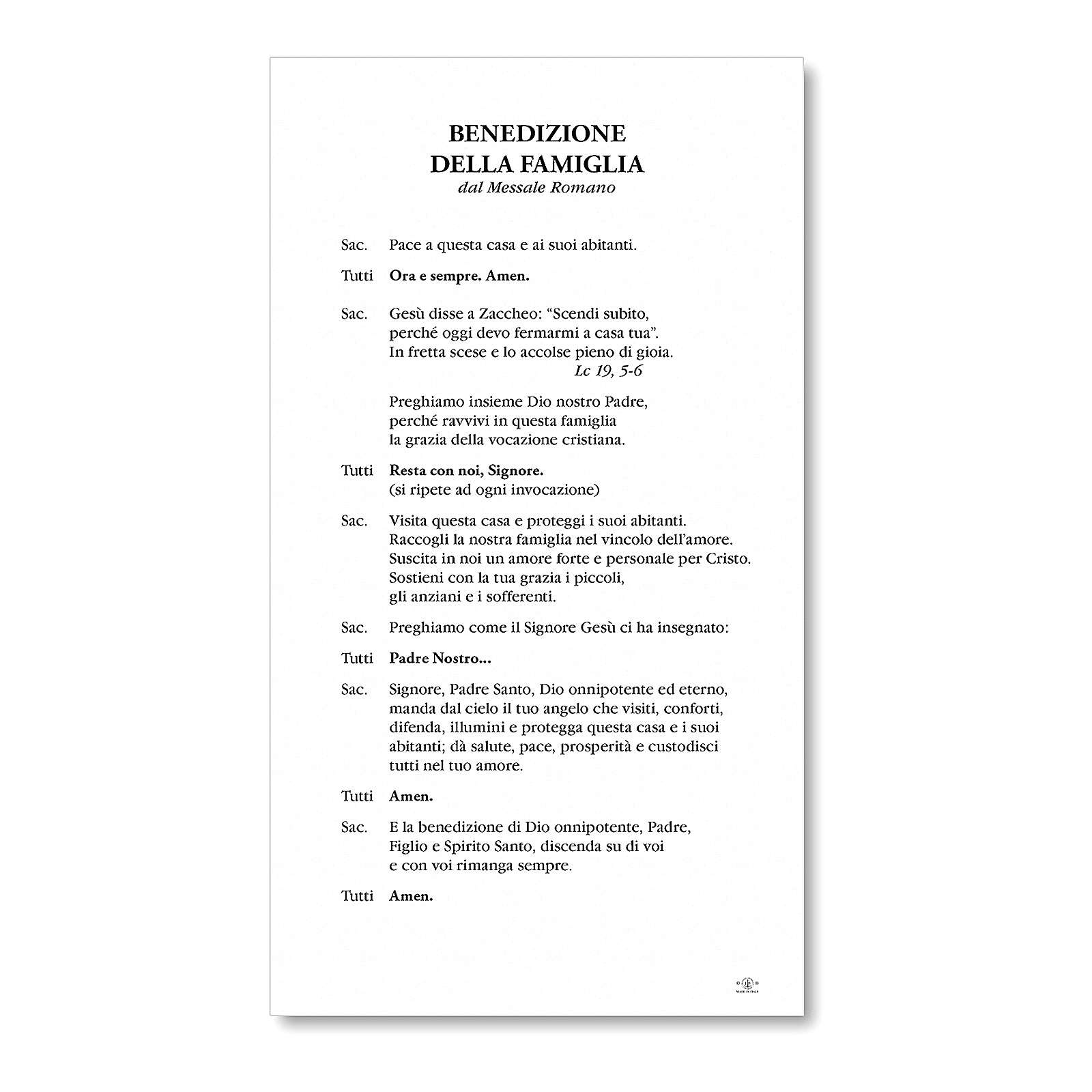 Benedizione pasquale Cartoncino Maria Scioglie i Nodi ITA 3