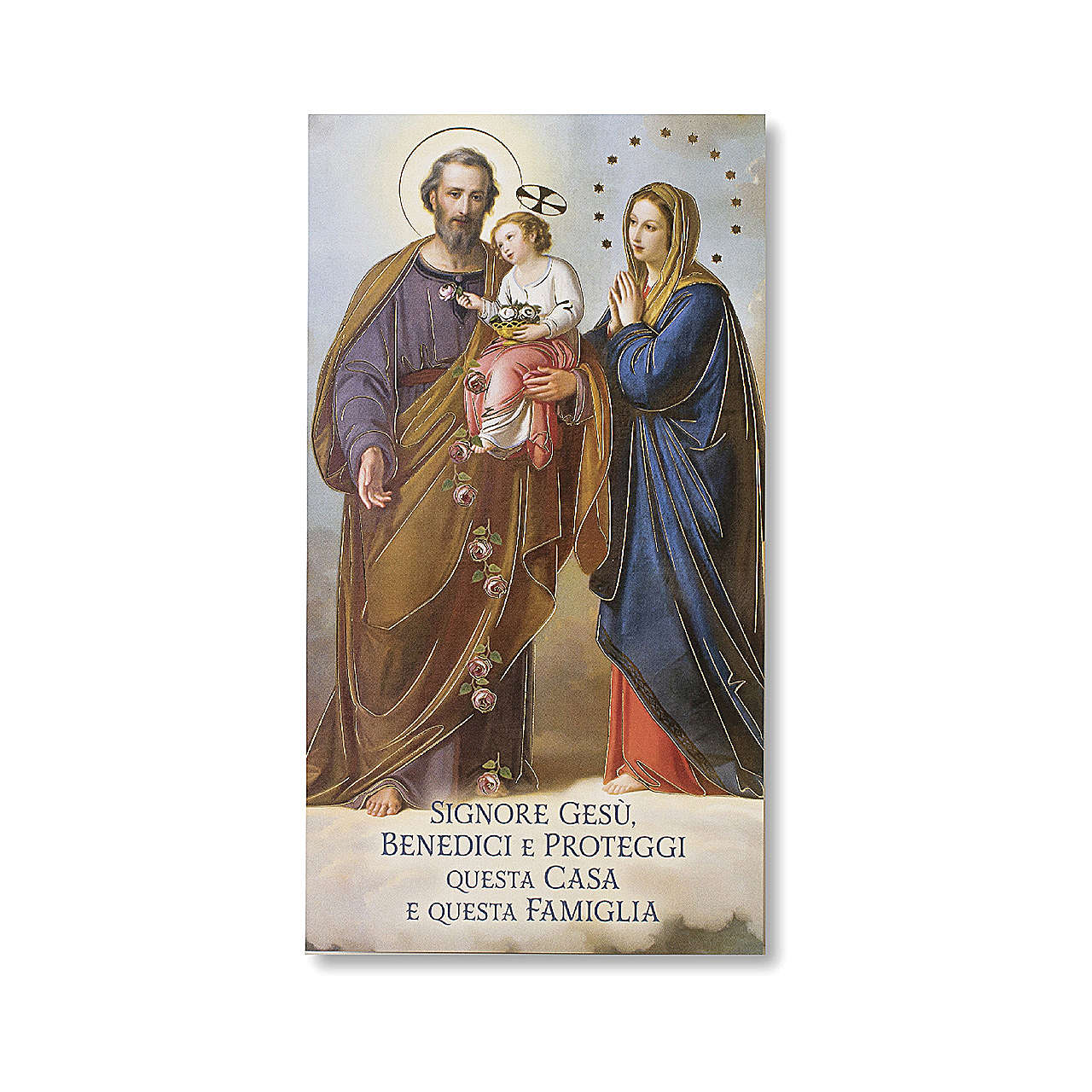 House Blessing pasteboard Holy Family ITALIAN 3