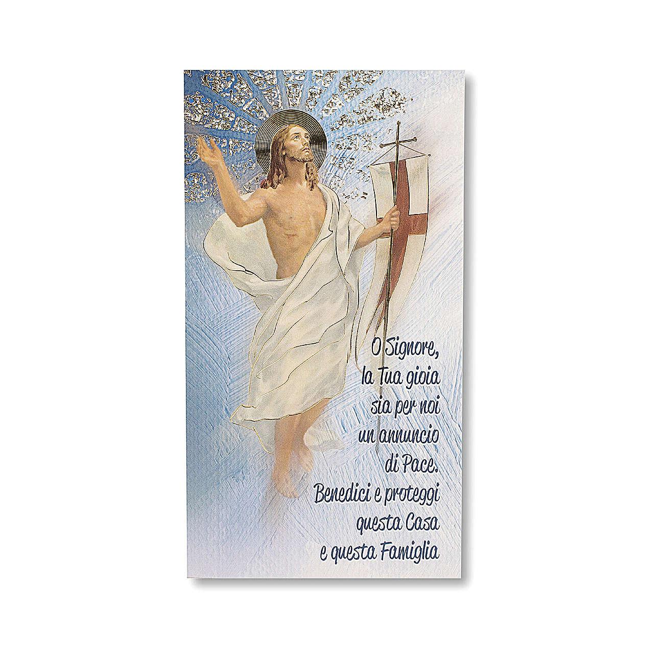 House Blessing pasteboard the Resurrection of Christ ITALIAN 3