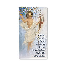 House Blessing pasteboard the Resurrection of Christ ITALIAN s1
