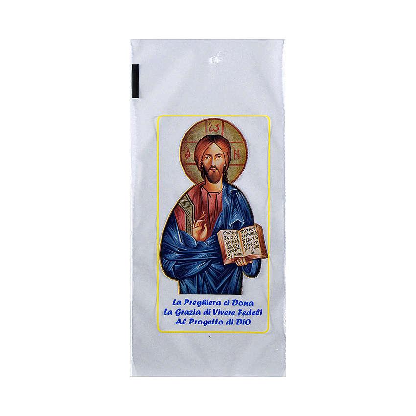 Palmzweig-Schutzhüllen, Motiv Christus, 200 Stück 3