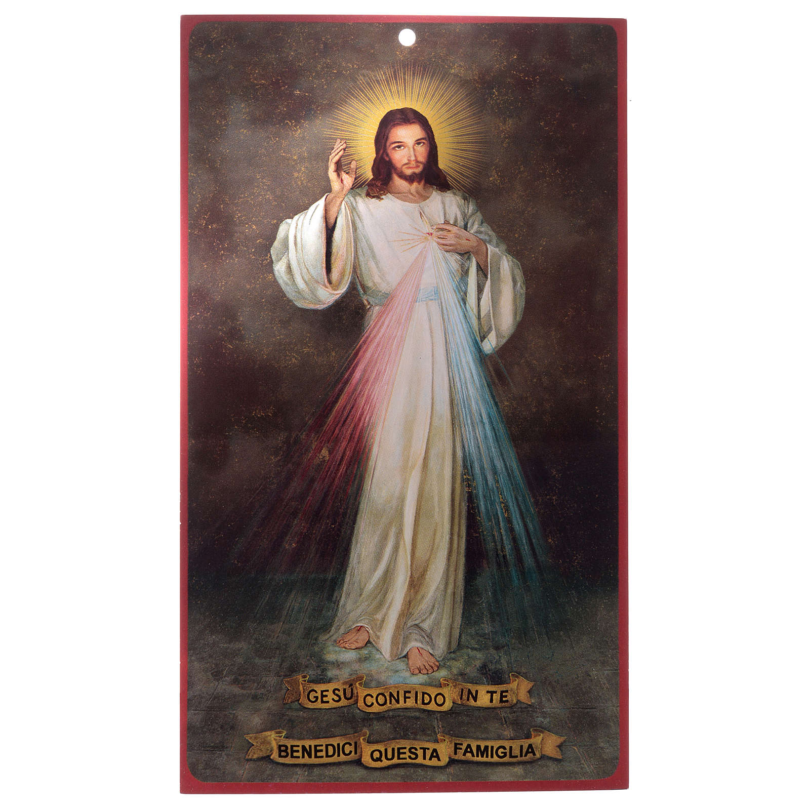 Benedizioni: pergamena Gesù Misericordioso (100 pz.) 3