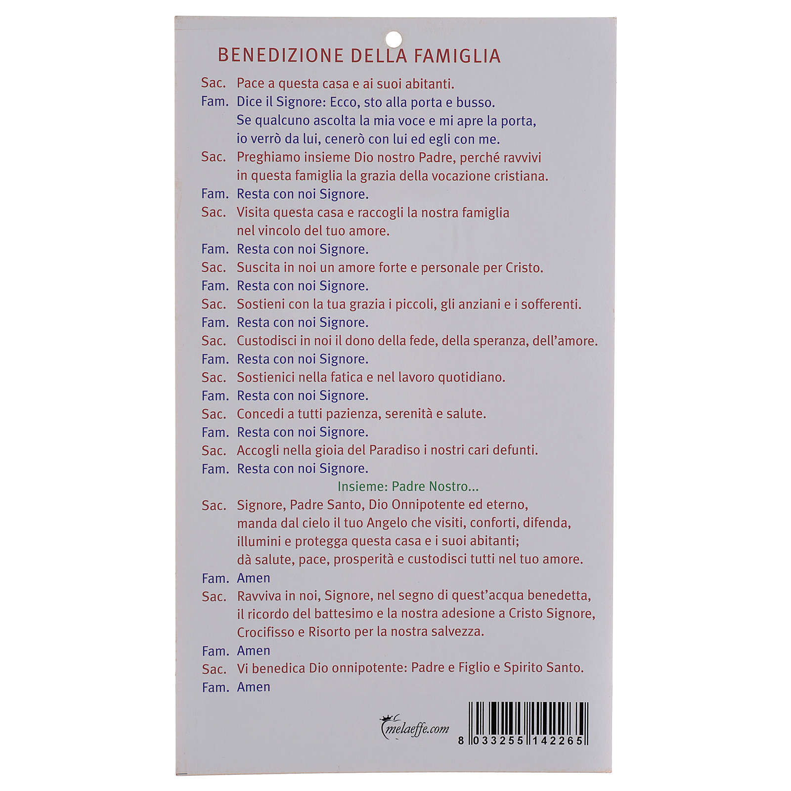 Blessings: Jesus the Compassionate parchment (100 pz.) in ITALIAN 3