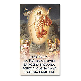 Błogosławieństwa Rodzin kartonik Jezus Zmartwychwstały z modlitwą s1