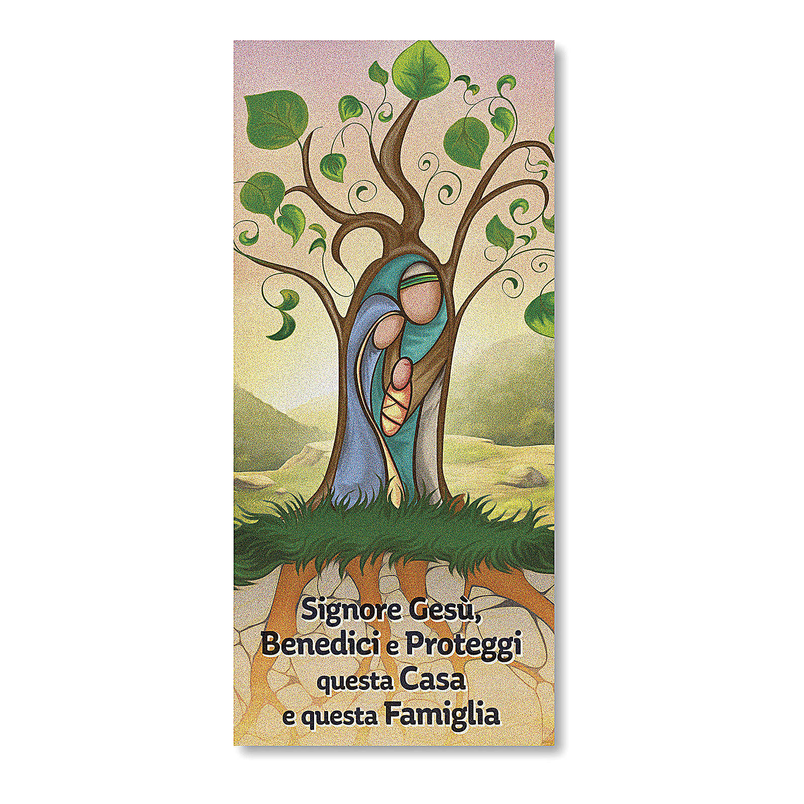 Card in parchment paper with Blessing of the Families and prayer Tree of Life 3