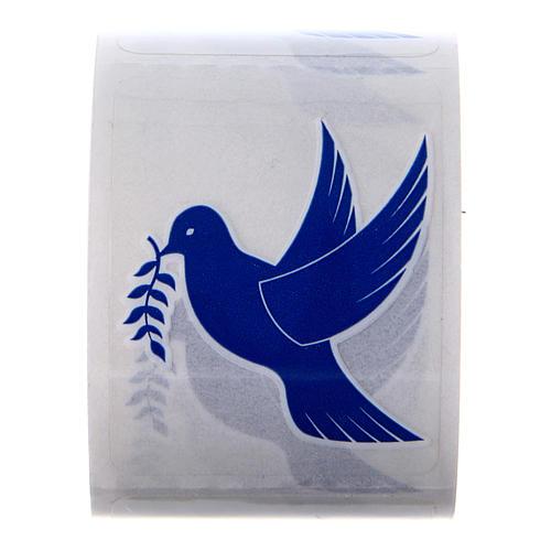 Aufkleber Motiv Taube 100 Stück für Weihwasserfläschchen 1