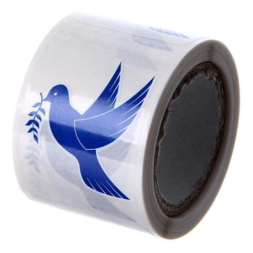 Aufkleber Motiv Taube 100 Stück für Weihwasserfläschchen 2