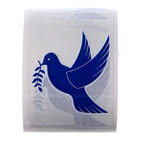 Accesorios para bendición: Adhesivos Paloma 100 piezas para botellas agua santa