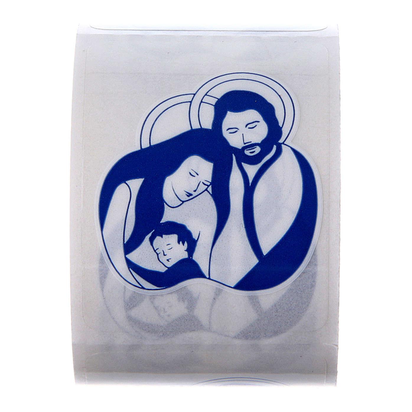 Aufkleber Motiv Heilige Familie 100 Stück für Weihwasserfläschchen 3