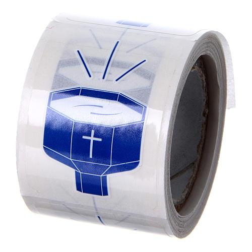 Baptismal Font Holy Water Sticker, 100 pcs 2
