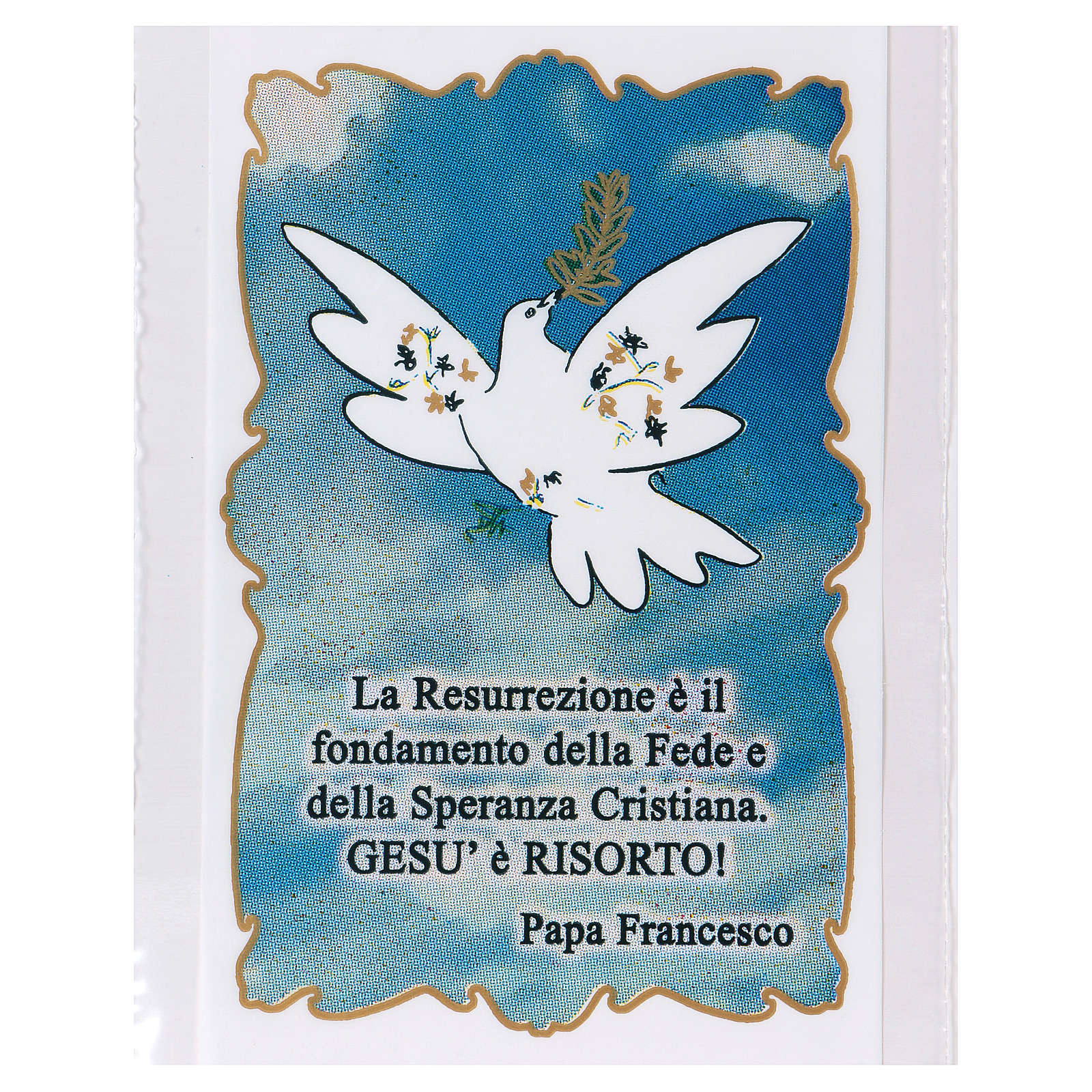 Bag for olive tree branch for Palm Sunday with Dove of Peace 200 pieces 3