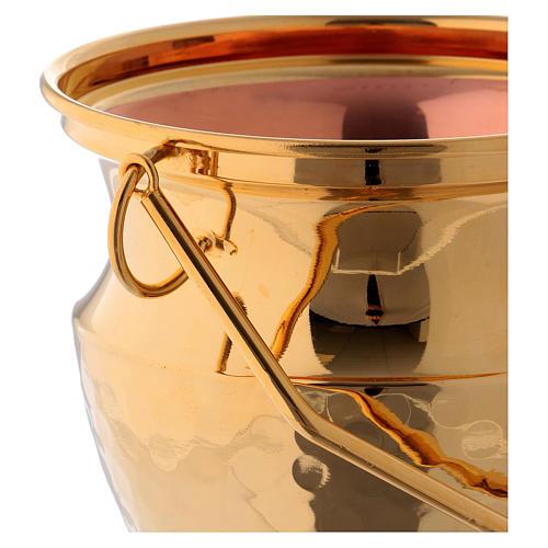 Secchiello per acqua santa ottone dorato 2