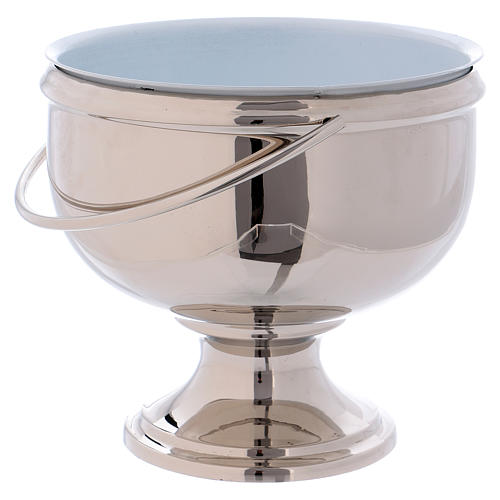 Nickel-plated brass Holy Water pot 2