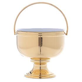 Bucket for blessing in shiny golden brass s1