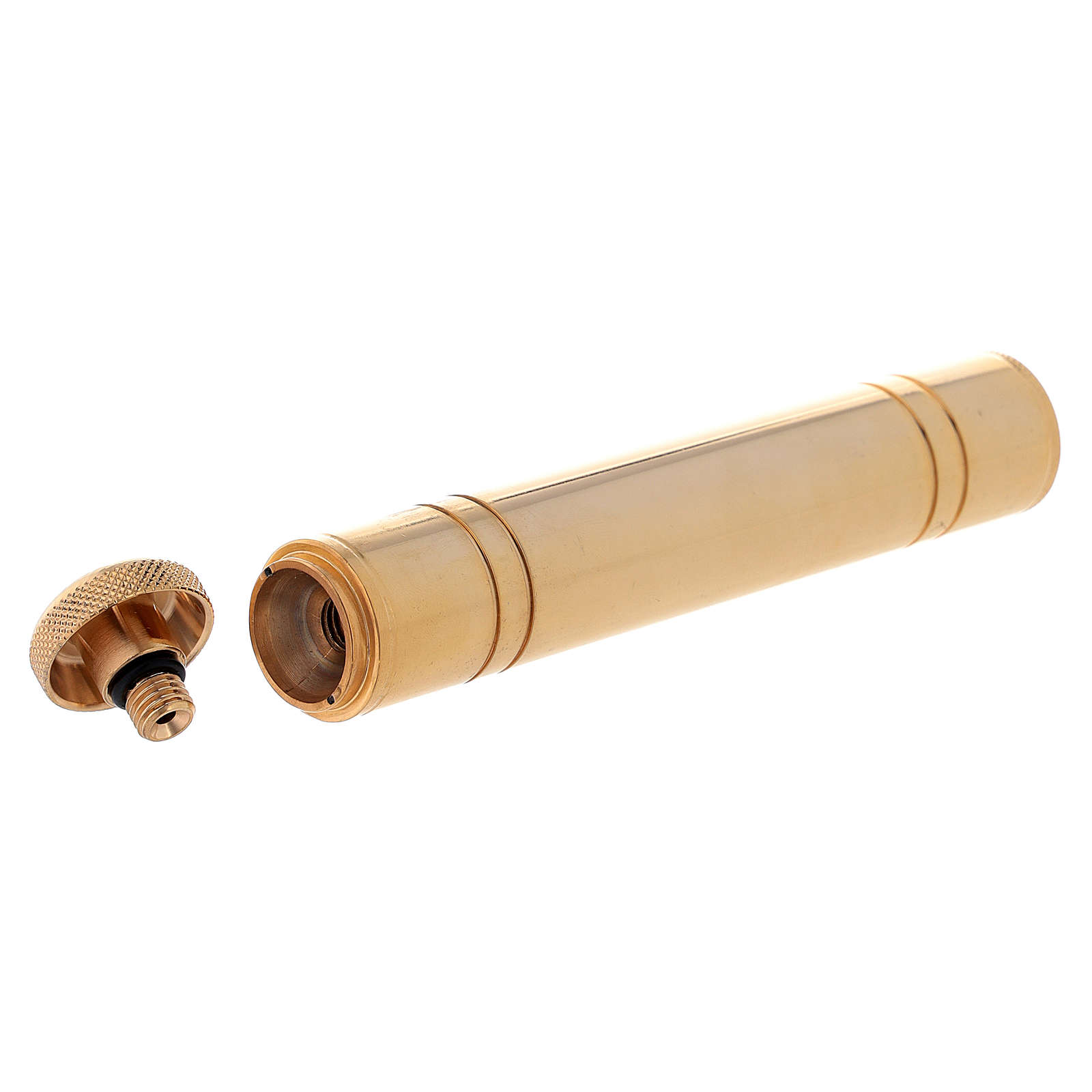 Aspersorio latón dorado de bolsillo 14 cm 3