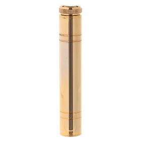 Aspersorio latón dorado de bolsillo 14 cm s1