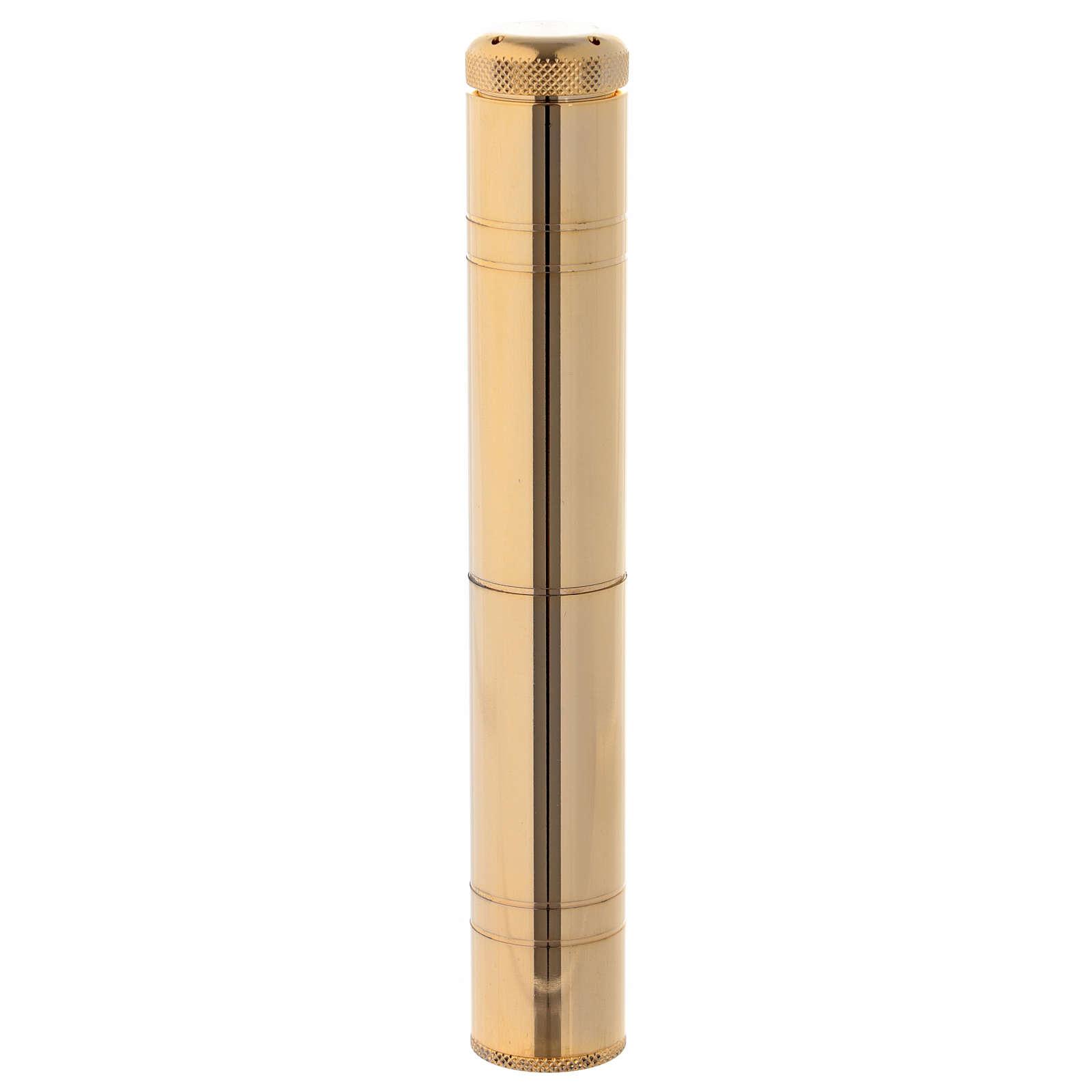 Aspersorio de bolsillo latón dorado 16 cm 3