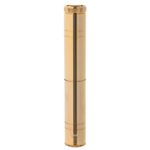 Aspersorio de bolsillo latón dorado 16 cm 1