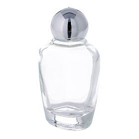 15 ml holy water glass bottle with silver metallic plastic cap (50-PIECE PACK) s2