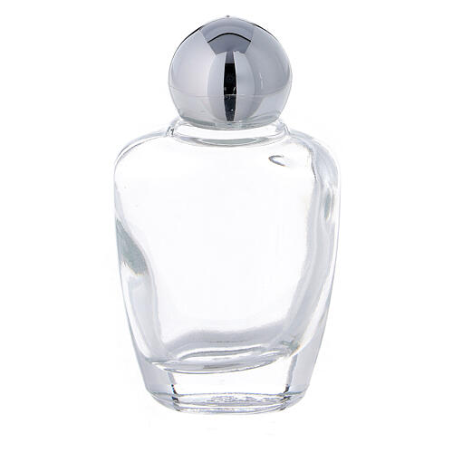 15 ml holy water glass bottle with silver metallic plastic cap (50-PIECE PACK) 1