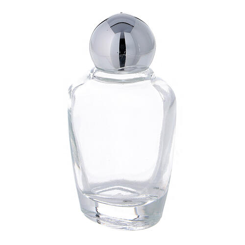 15 ml holy water glass bottle with silver metallic plastic cap (50-PIECE PACK) 2