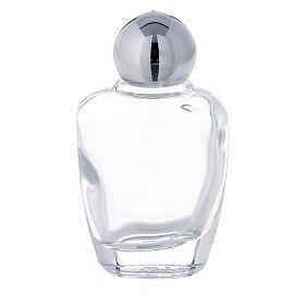 Botella agua bendita vidrio 15 ml tapón plateado (CAJA 50 PIEZAS) s1