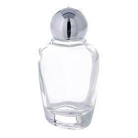 Botella agua bendita vidrio 15 ml tapón plateado (CAJA 50 PIEZAS) s2