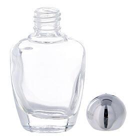 Botella agua bendita vidrio 15 ml tapón plateado (CAJA 50 PIEZAS) s3