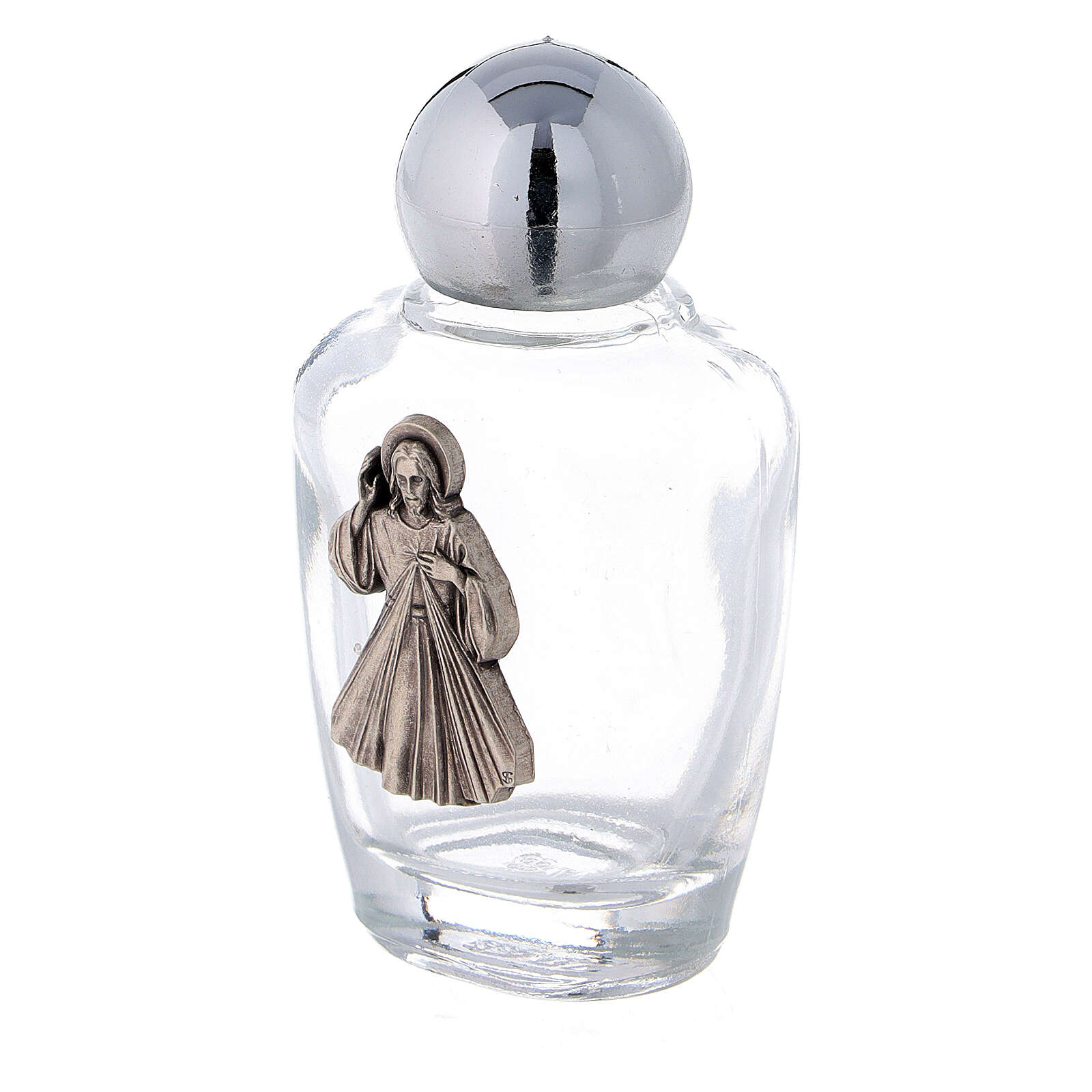 Holy water bottles in glass with Jesus plaque (50 pcs pack) 3