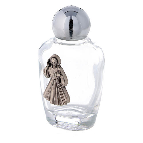 Holy water bottles in glass with Jesus plaque (50 pcs pack) 2