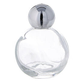 15 ml holy water glass bottle with silver plastic cap (50-PIECE PACK) s2