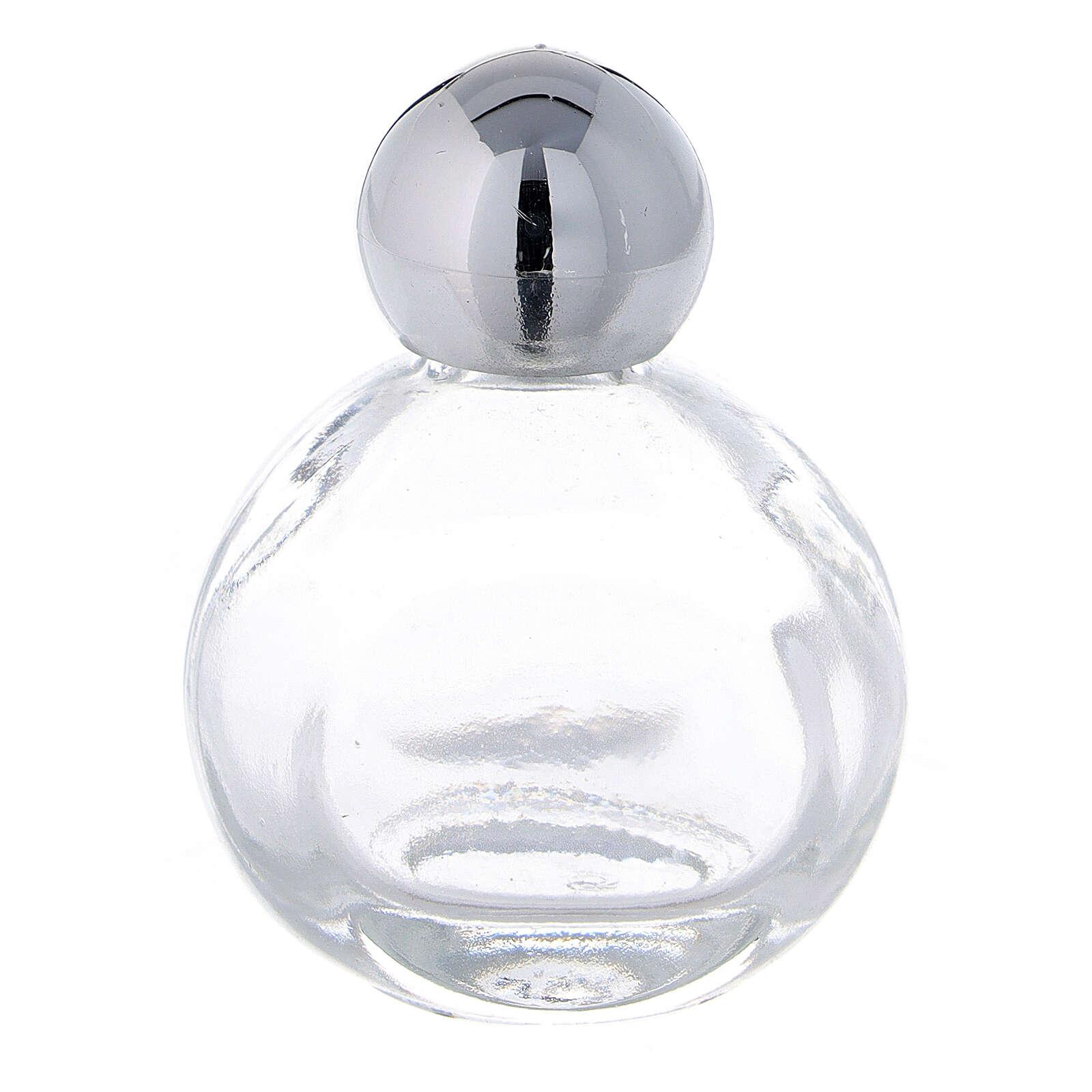 Bottiglietta acquasanta 15 ml vetro tappo argentato (CONF. 50 PZ) 3