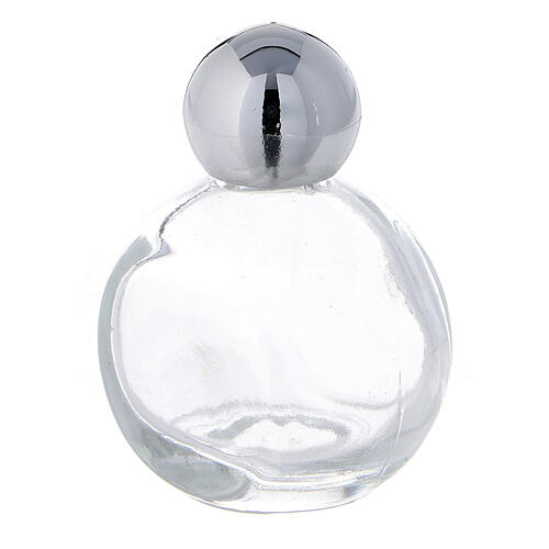 Holy water bottle 15 ml in glass with silver cap (50 pcs pk) 2